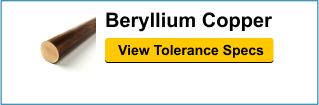 Beryllium Copper Tolerances
