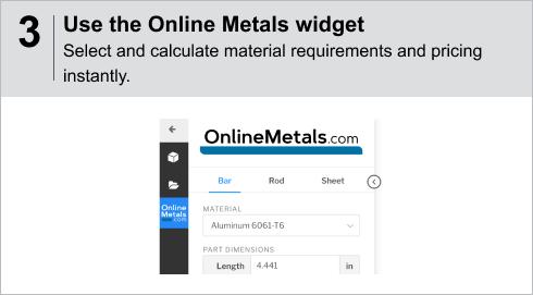 paperless Viewer Step3 - Use Onlinemetals widget