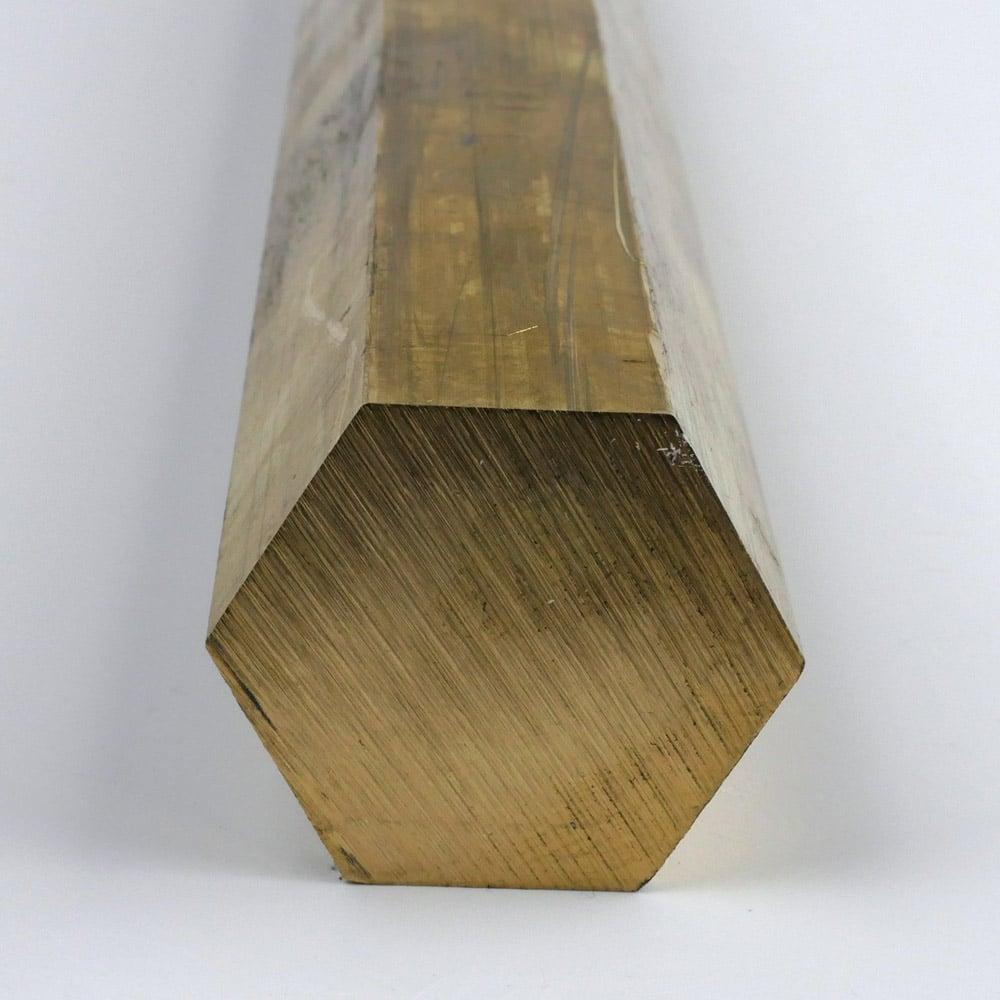 x 12 inches 1 inch Online Metal Supply C360 Brass Hexagon Bar 1.000